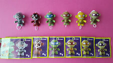 KINDER SURPISE COMPLETE 6 TMNT-TEENAGE MUTANT NINJA TURTLES -TWISTHEADS 2016