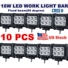 10X 18W CREE LED WORK LIGHT BAR FlOOD SPOT DRIVING LAMP OFFROAD 4WD SUV BOAT UTE