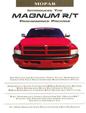 1995 Dodge Magnum R/T Dakota Truc k Ram Package Sales Brochure Folder