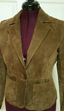 NY & Company Womens Genuine Suede Leather Jacket Size 8 / Small Brown