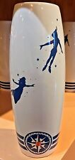 DISNEY PARKS THINK HAPPY THOUGHTS CERAMIC TALL VASE NEVERLAND PETER PAN NEW