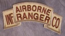 Embroidered Military Patch U S Army Airborne Ranger NEW shoulder tab desert