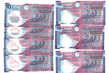Hong Kong Government $10 Banknote 2003 to 2014 UNC 7pcs Paper and Polymer