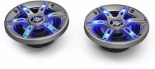 CAR Audio Altoparlanti Sistema LED 6.5 pollici EFFETTO DI LUCE LED BLU 800w amplificatore COPPIA