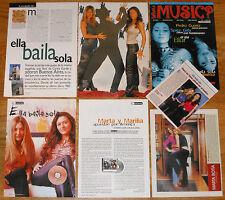 ELLA BAILA SOLA colección prensa 1990s clippings revista pop español marta botia