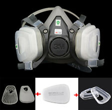 2016 7 in 1 Suit 3M 6200 Spray Painting Protection Respirator half Face Gas mask