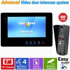 """7""""TFT Door Monitor Video Intercom System w/800 TVL IR Camera Support CCTV Camera"""