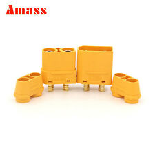 1 Pair Amass XT90H Connector + Cover Sheath Male & Female For RC Lipo Battery