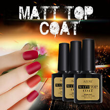 Azure Matte Top Coat UV/Led Primer Gel Nail Polish Soak Off 8ml