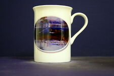 UNIQUE 320ml BONE CHINA MUG + OVAL IMAGE OF ORIGINAL PAINTING-Kananook Ck.Bridge