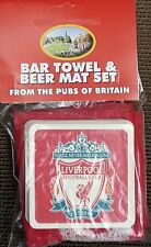 Liverpool Cotton Bar Towel and 10 Beermats (pp)