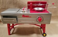Vintage Made in Japan light up - Battery Tin toy portable Hotdog stand - Grill