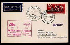 50 Jahre Deutsche Flugpost - seltener Sonderstempel Hoyerswerda 1962! Sonderflug