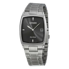 Citizen Eco-Drive Black Dial Stainless Steel Mens Watch AU1070-58E