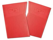 NEW! 1964-1973 Ford Mustang Red Floor mats Molded Rubber Set of 4 Front and Back