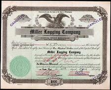 William E Boeing 1929  signs RARE Stock Certificate TWICE - Seattle Washington