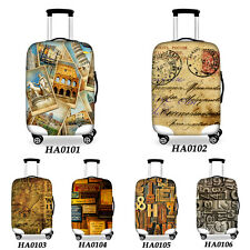 Vintage Luggage Elastic Cover 20''24''28'' Travel Suitcase Dust-proof Protector