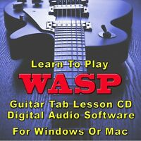 W.A.S.P. Guitar Tab Lesson CD Software - 32 Songs