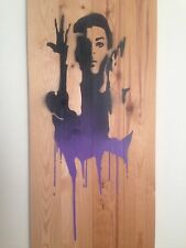 PRINCE - PURPLE RAIN by Emo Raphiel Astoria signed Dismaland Banksy photo un