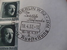 1937 Block 8 Nationale Briefmarkenausstellung mit SST Berlin 18.04.1937