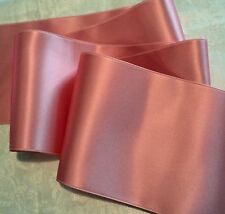 "2"" WIDE SWISS DOUBLE FACE SATIN RIBBON -DUSTY ROSE - BY THE YARD"