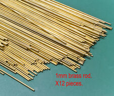 12 (dozen) X 1mm diameter brass modellers rod - 300mm lengths.