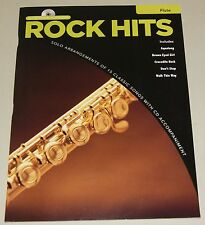 Rock Hits Flute Instrumental Play Along Querflöte Notenbuch mit CD NEU