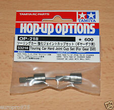 TAMIYA 53218 TOURING CAR HARD JOINT CUP Set (per INGRANAGGIO DIFF) (TA01 / TA02 / TL01) NIP