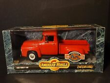 Ertl American Muscle 1956 Ford F-100 Pickup Truck Red 1:18 Scale Diecast Model