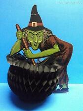 Vintage Beistle Halloween Witch Cauldron Honeycomb Die Cut Out Tissue Decoration