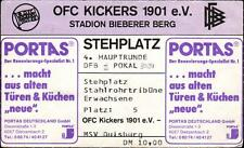 Ticket DFB-Pokal 89/90 Kickers Offenbach - MSV Duisburg