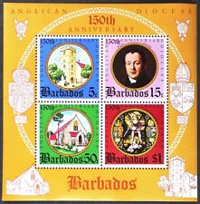 AT134 BARBADOS 150th. Anniv. Anglican Diocese S/S MINT NH