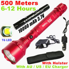 2016 New Red 2000lumen CREE XML T6 LED TACTICAL Rechargeable 18650 Flashlight US