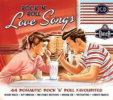 ROCK 'N' ROLL LOVE SONGS 2 CD NEU RAY CHARLES/ADAM FAITH/BUDDY HOLLY/BILLY FURY