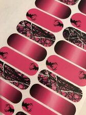 Jamberry Nail Wraps MUDDY GIRL PINK Camo Camouflage Outdoors Deer FULL SHEET New