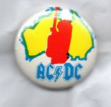 ACDC / AC/DC - RARE BUTTON BADGE - CLASSIC ROCK  HEAVY METAL / PIN BADGE 25MM