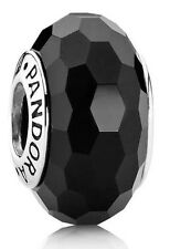 Authentic Pandora SILVER 925 ale charm bead Fascinating Black 791069