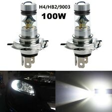 2Pcs H4 100W 7000K CREE 20-SMD LED Projector Fog Driving HID Headlight Led Light