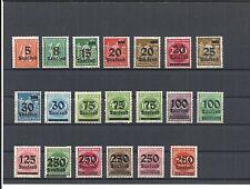 Deutsches Reich, 1923 Michelnummern: 277 - 296 **, postfrisch, Katalogwert € 11