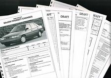 1996 Ford ESCORT  confidential  DEALER Only Preview {Brochure Info} GT,LX,Wagon