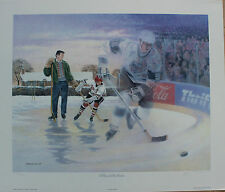 James Lumbers Lithograph Signed Limited Edition A Boy And His Dream Gretzky 1991