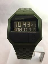 "Men's Nixon Watch ""The Rubber Re-Run"" Matte Black/Surplus - Digital, Rubber"