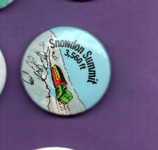 Snowden Summit 3560ft  -  Railway - Button Badge 1980's