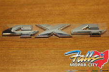 Dodge Mopar Ram Truck Chrome 4X4 Emblem Decal Badge Namplate Bed Box Sticker OE
