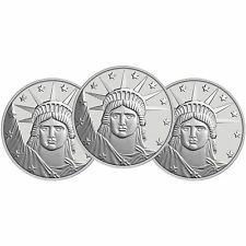 Silvertowne Lady Liberty 1 oz .999 Fine Silver Round- Lot of 3