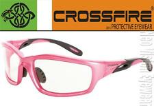 Crossfire Infinity Pink Clear Anti Fog Womens Safety Glasses Motorcycle Z87.1