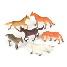 Plastic Toy Horses 24 (2 dozen) size 2.5 inches Party Favors Goody Treat Bag NEW