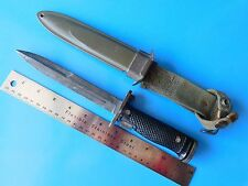 VINTAGE ARMY/MARINE BAYONET AND SCABBARD, USED