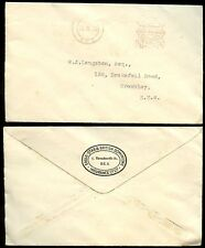 GB 1930 METER FRANKING 1/2d EAGLE STAR + DOMINIONS ENVELOPE