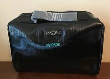 LANCOME Signature Cosmetic Bag PATENT LEATHER LIKE Black 0816S# GWP New